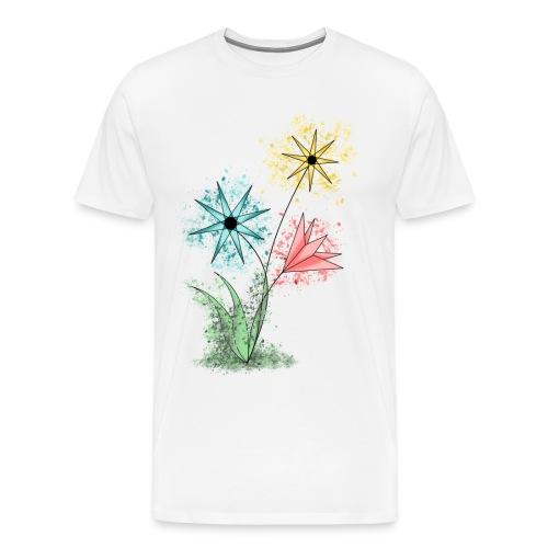 Flowers - Bunte Blumen - Männer Premium T-Shirt