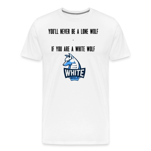 White Wolf Text - Männer Premium T-Shirt