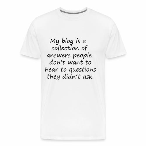 My Blog - Mein Blog / Funny - Geschenkidee - Männer Premium T-Shirt