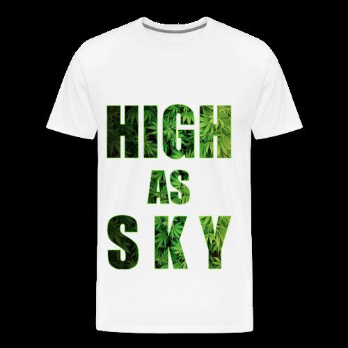 High as Sky Weed Design - Männer Premium T-Shirt