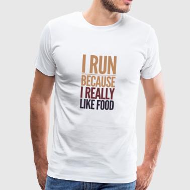 corridori come cibo - Maglietta Premium da uomo