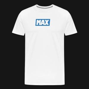 Max Blue/White - T-shirt Premium Homme