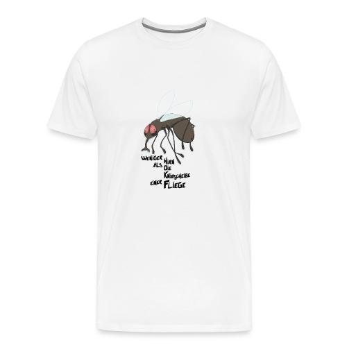 Kleinhirn Fliege - Männer Premium T-Shirt
