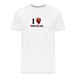 I love Butterflyland - T-shirt Premium Homme