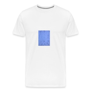 Deksel med vinterbilde - Premium T-skjorte for menn