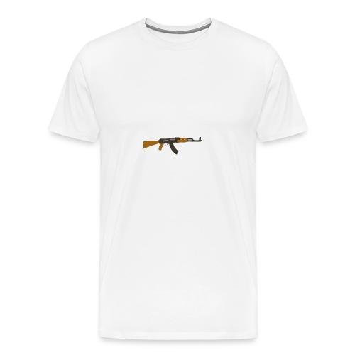 fire-cartoon-gun-bullet-arms-weapon-drawings-png - Mannen Premium T-shirt