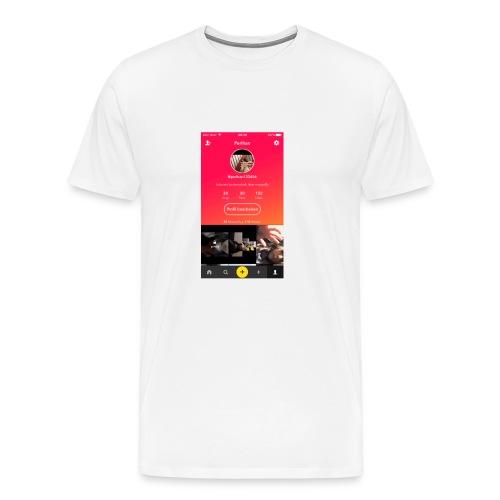 Flasch mit Bild 🌸 - Männer Premium T-Shirt