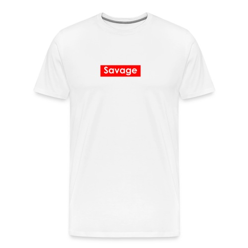 Savage / Supreme tshirt - Mannen Premium T-shirt