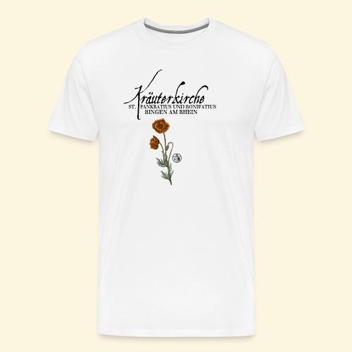 Kräuterkirche Mohn - Männer Premium T-Shirt