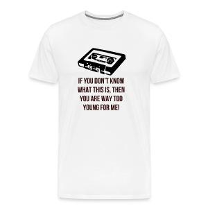 Retro Cassette - Men's Premium T-Shirt