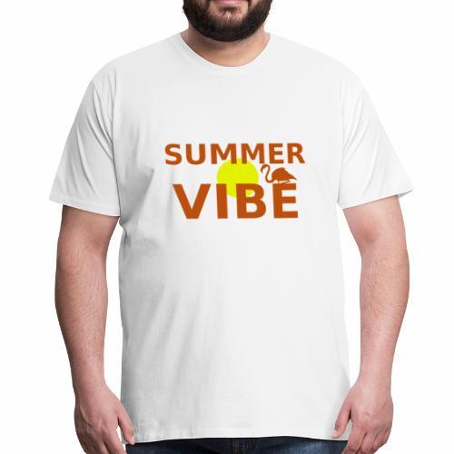 Oranges Summer Vibe-Motiv - Männer Premium T-Shirt