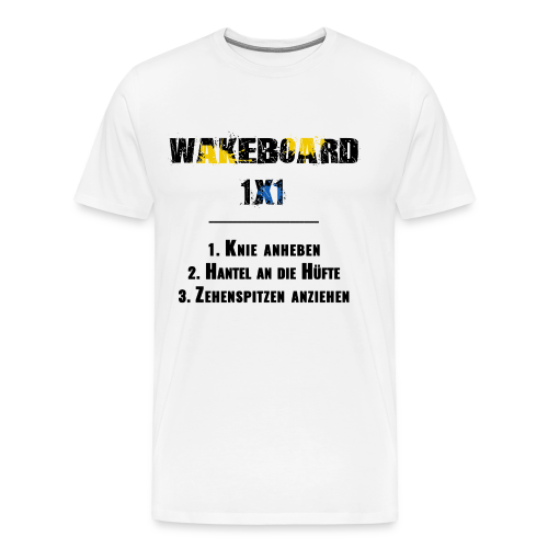 Wakeboard 1x1 (schwarz) - Männer Premium T-Shirt