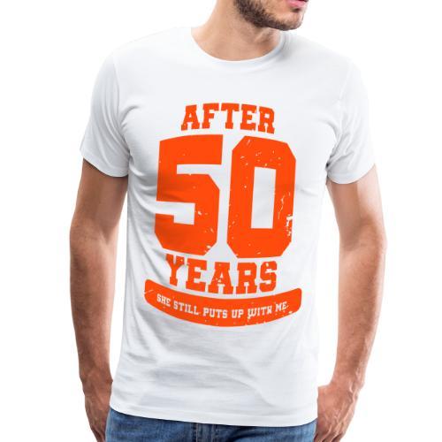 Ü50 Über 50 Jahre 50th - colorize - Männer Premium T-Shirt