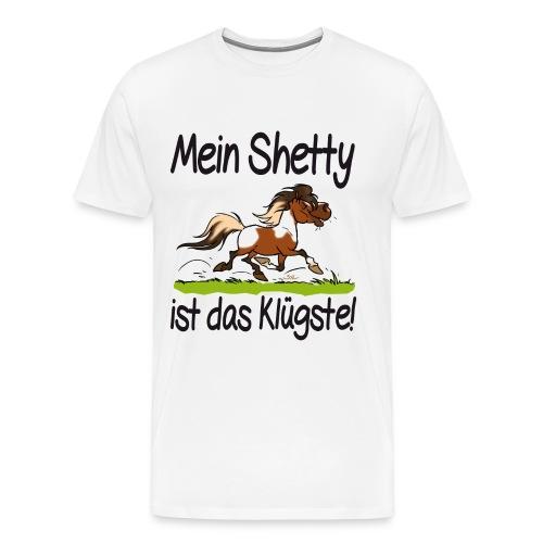 Mein Shetty ist das Klugste (Text Schwartz) - T-shirt Premium Homme