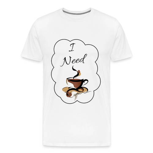 Design Coffee - Männer Premium T-Shirt