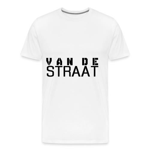 Van De Straat - Wit - Mannen Premium T-shirt