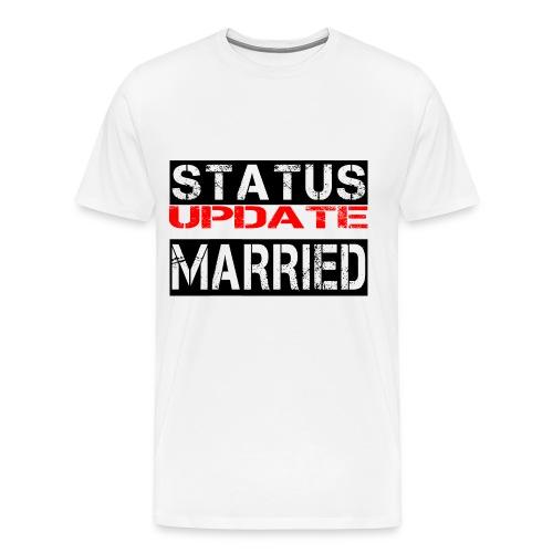 Statusupdate verheiratet Hochzeit Geschenk Idee - Männer Premium T-Shirt