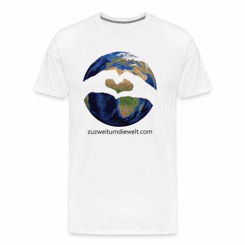 Zu zweit um die Welt: Logo mit Schriftzug - Männer Premium T-Shirt