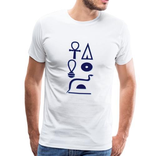 Hieroglyphen - Leben wie Re ewig - Männer Premium T-Shirt