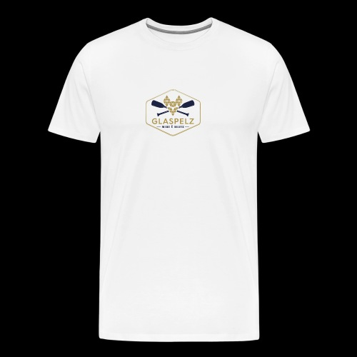 LOGO Glaspelz wine boats - Männer Premium T-Shirt