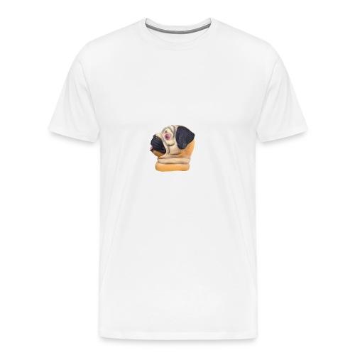 A larger DJ Pug - Men's Premium T-Shirt