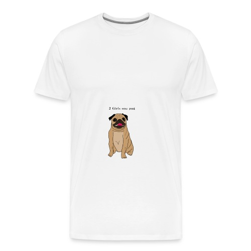 2girls one pug - T-shirt Premium Homme