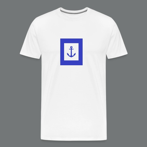 cadre ancre bleu - T-shirt Premium Homme