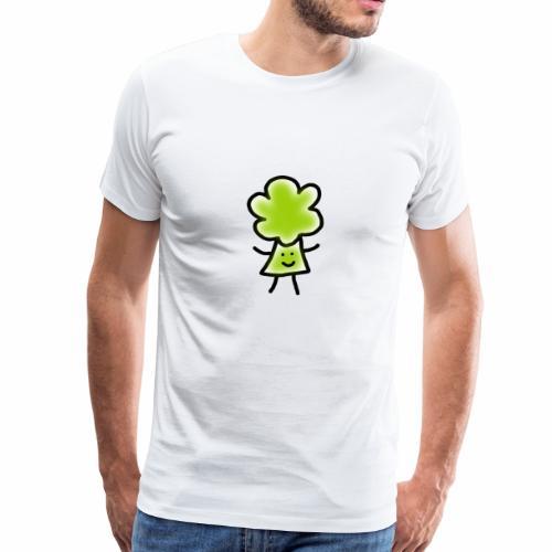 Brocoli Sketch - Men's Premium T-Shirt