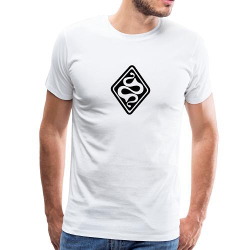 Latene keltisches Symbol schwarz weiß - Männer Premium T-Shirt