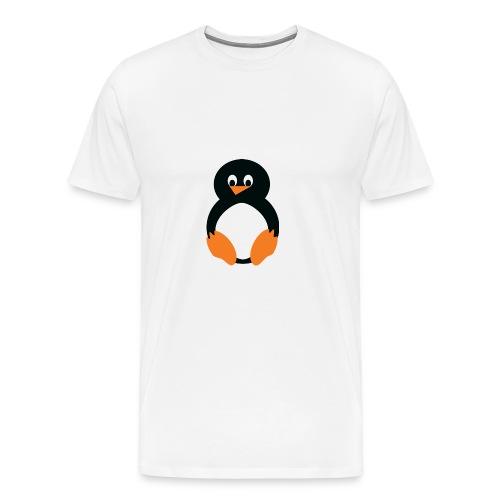 Pingvin - Premium-T-shirt herr