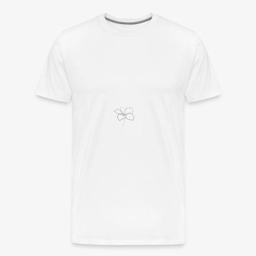 Flower - Herre premium T-shirt