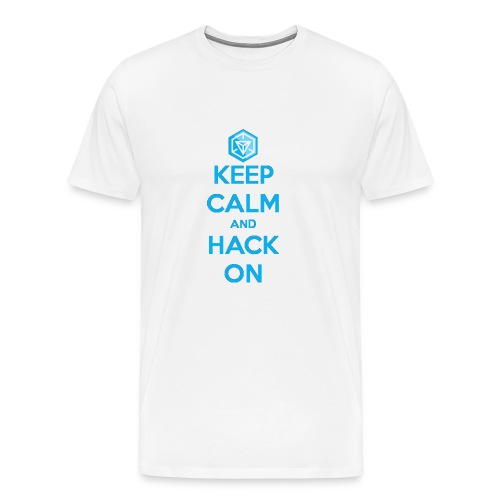 keep calm and hack on - Maglietta Premium da uomo