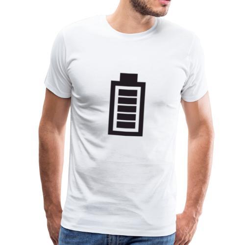 Voll geladen, Akkuanzeige, Energie, Geschenkidee - Männer Premium T-Shirt