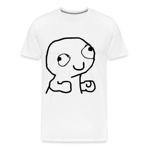 Derpy Trollface - Men's Premium T-Shirt