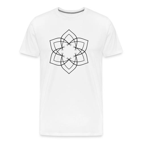 Mandala 6 Blätter schwarz - Männer Premium T-Shirt