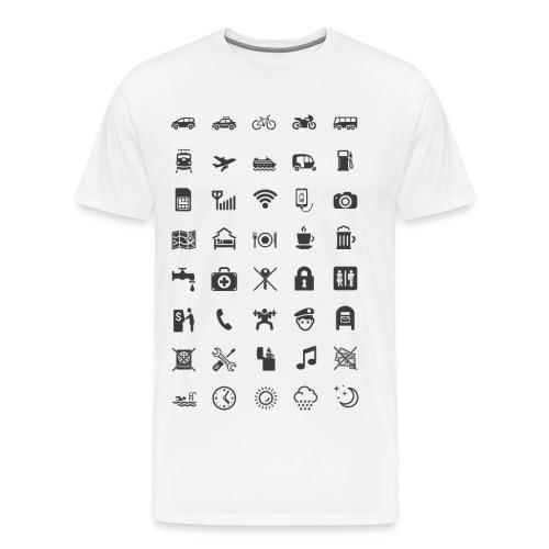 T-shirt för resan med mörka ikoner - Premium-T-shirt herr
