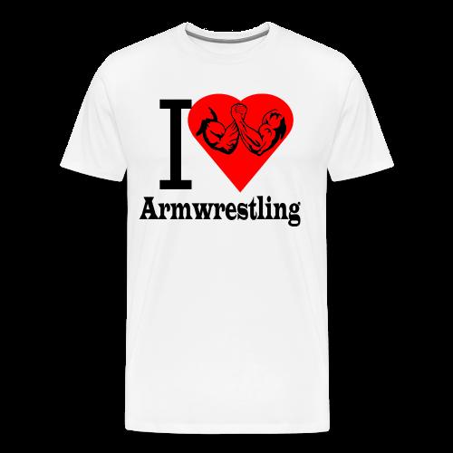 I love Armwrestling - Männer Premium T-Shirt