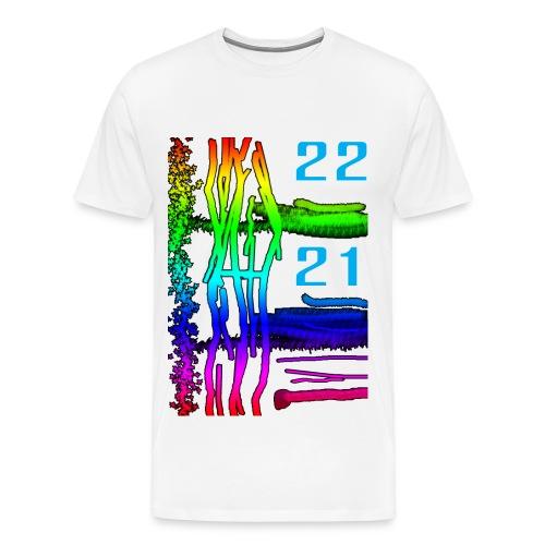 Décor sous marin de couleur très vive - T-shirt Premium Homme