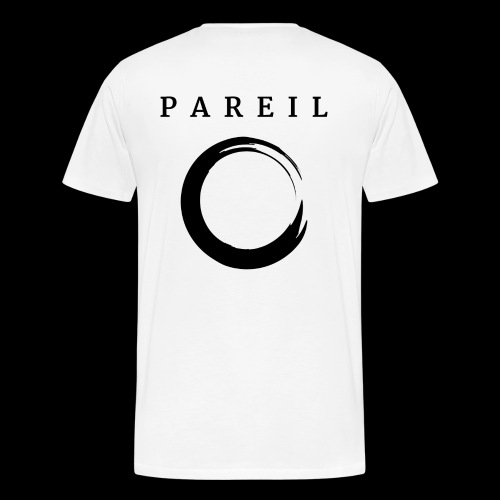 Back White Box Logo - Men's Premium T-Shirt