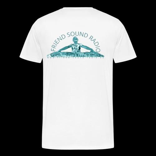 Friend Sound Radio DJ Rücken - Männer Premium T-Shirt