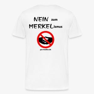 NEIN zum MERKELismus - Männer Premium T-Shirt