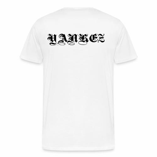 Yankez Schulter Schriftzug - Männer Premium T-Shirt