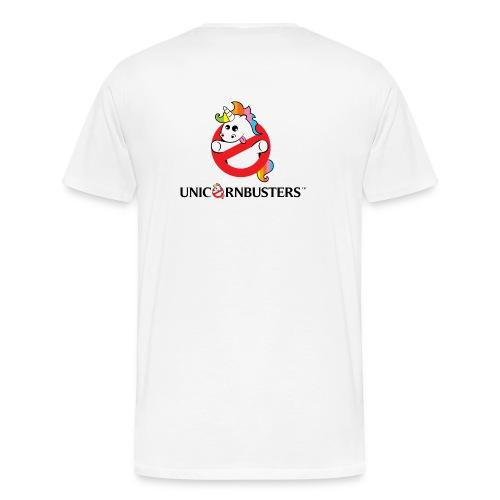 Unicorn Busters (Logo + Text) - Männer Premium T-Shirt