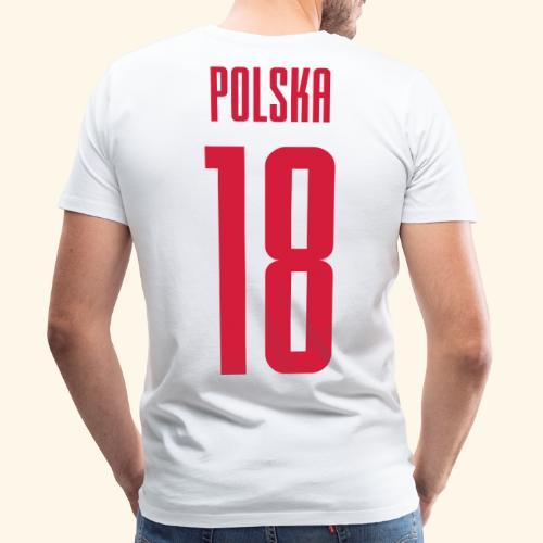 Polska Rückennummer 18 - Männer Premium T-Shirt