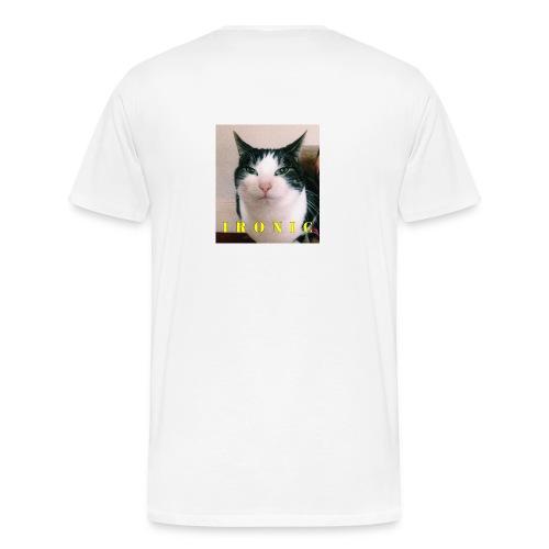 IRONIC ANGRY CAT - Men's Premium T-Shirt