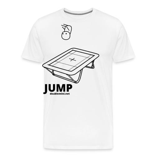 Trampoline JUMP shirt white - Men's Premium T-Shirt