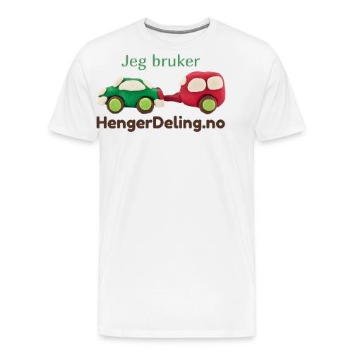 Jeg bruker HengerDeling.no - Premium T-skjorte for menn