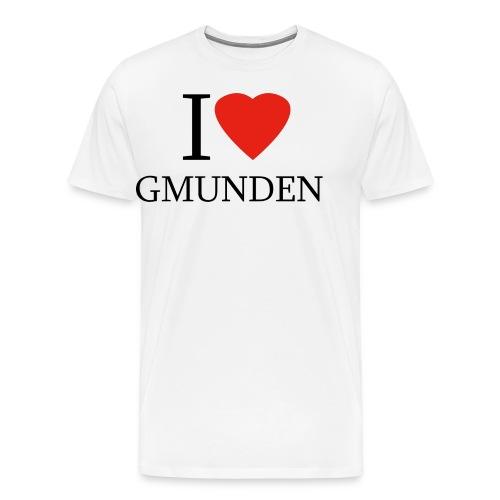 I LOVE GMUNDEN - Männer Premium T-Shirt