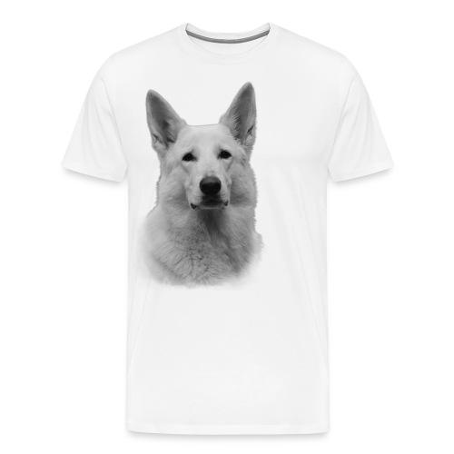 Valkoinenpaimenkoira - Miesten premium t-paita