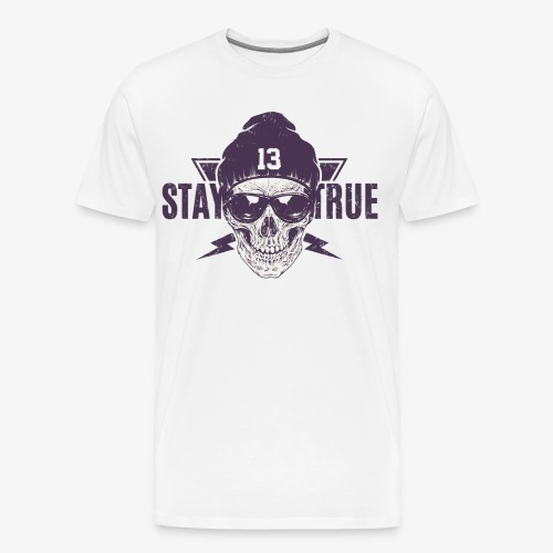 Totenkopf mit Mütze - Männer Premium T-Shirt